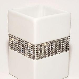 Bella Lux Rhinestone Ceramic Cup New